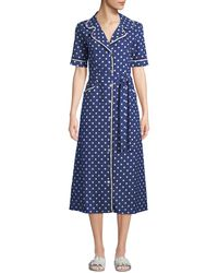 ecf7b9171d4 Evi Grintela - Gloria Polka-dot Cotton Midi Shirtdress - Lyst