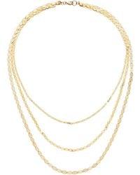 Lana Jewelry - 14k Triple Nude Chain Necklace - Lyst
