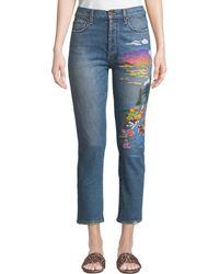 AO.LA by alice + olivia - Amazing High-rise Slim Girlfriend Jeans - Lyst