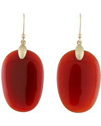 Ted Muehling - Large Carnelian Chip Earrings - Lyst