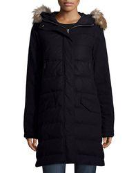 Sorel - Tivoli Quilted-puffer Long Jacket W/ Faux Fur - Lyst
