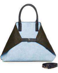 Akris - Ai Medium Suede Top Handle Bag - Lyst