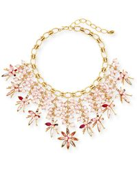 Sequin - Pink Pearly Swarovski® Crystal Statement Necklace - Lyst
