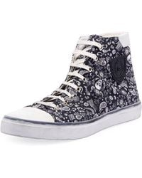 9393de81b3 Lyst - Vans Bedford Marble Star White   Ankle-high Fabric Fashion ...