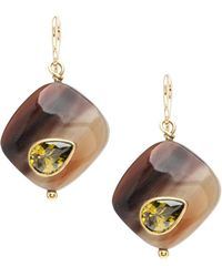 Ashley Pittman - Sanamu Mixed Horn & Zircon Drop Earrings - Lyst