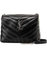 75e7dff5e751 Saint Laurent - Loulou Monogram Ysl Small Y-quilted Leather Chain Bag - Lyst