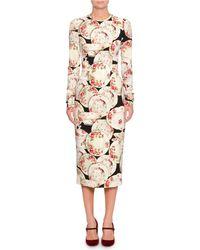 Dolce & Gabbana - Plate Print Sheath Dress - Lyst