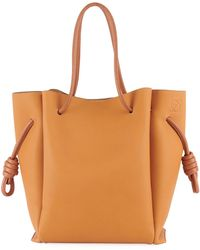 Loewe - Flamenco Knot Leather Tote Bag - Lyst