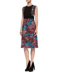 Burberry Brit - Sleeveless Layered-lace Dress - Lyst