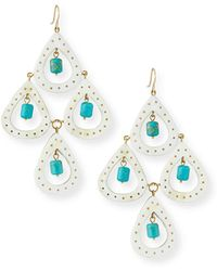 Ashley Pittman - Jasiri Light Horn Tiered Drop Earrings - Lyst