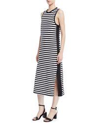 Rag & Bone - Brit Striped Side-split Tank Dress - Lyst