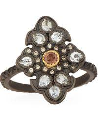 Armenta - Old World Garnet & Diamond Scroll Ring - Lyst