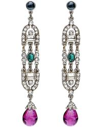 Ben-Amun - Velvet Glamour Deco Drop Earrings - Lyst