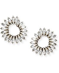 Auden - Vivian Clear Crystal Hoop Earrings - Lyst