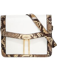 Hayward - Mini H Python Crossbody Bag - Lyst