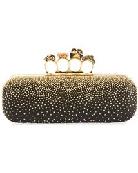 Alexander McQueen - Knuckle Studded Leather Box Clutch Bag - Lyst