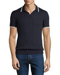 Orlebar Brown - Men's Rushton Rib-knit Polo Shirt - Lyst