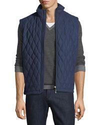 Ermenegildo Zegna   Quilted Wool-silk-cashmere Vest   Lyst