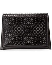 Alaïa - Arabesque Studded Leather Clutch Bag - Lyst