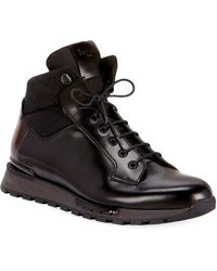Berluti - Men's Glazed Calf Leather Hiking Boots - Lyst