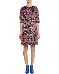 Marni - Short-sleeve Abstract-print Cotton Woven Dress - Lyst