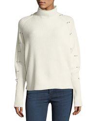 Elie Tahari | Easton Studded Turtleneck Sweater | Lyst