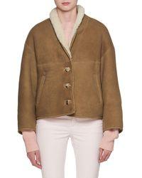 Étoile Isabel Marant - Alexandre Button-front Short Shearling Jacket - Lyst