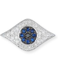 Sydney Evan - Large Evil Eye Single Stud Earring - Lyst
