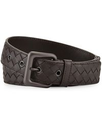 Bottega Veneta - Men's Intrecciato Leather Belt - Lyst