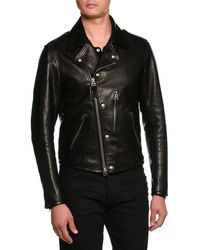 Tom Ford - Asymmetric-zip Leather Biker Jacket - Lyst