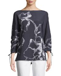 Lafayette 148 New York | Georgina Desert Bloom Silk Blouse | Lyst