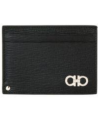 53e841fcfc271f Ferragamo - Men's Revival Gancini Leather Card Case With Flip-out Id Window  - Lyst