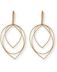 Lana Jewelry - 14k Medium Three-tiered Hoop Earrings - Lyst