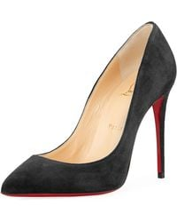 Christian Louboutin - Pigalle Follies Suede Red Sole Pump - Lyst