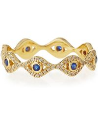 Sydney Evan - Small Evil Eye Eternity Band Ring - Lyst