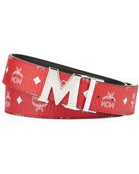 MCM - Men's Claus Reversible Visetos Logo-buckle Belt - Lyst