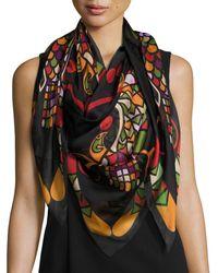 Givenchy - Egyptian Wings Square Silk Chiffon Shawl - Lyst