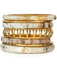 Ashley Pittman - Almasi Light Horn Stacking Bangles - Lyst