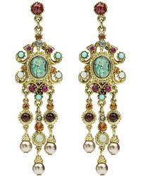 Ben-Amun - Multicolor Triple Pearly Drop Earrings - Lyst