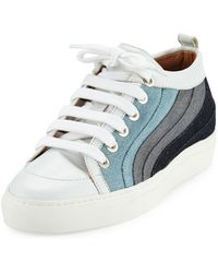 Laurence Dacade - Kool Patchwork Denim Low-top Sneakers - Lyst