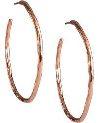 Ippolita - Rose Hammered Hoop Earrings - Lyst