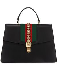 Gucci - Sylvie Chain-trim Top-handle Bag - Lyst