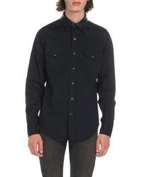 Saint Laurent Men's Western Shirt - Black