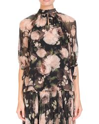 Erdem - Floral Print Silk Voile Blouse - Lyst