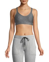 Beyond Yoga - Double Back Alloy-speckled Sports Bra - Lyst