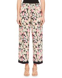 Dries Van Noten - Puvis Cropped Floral Pants - Lyst
