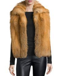 Sofia Cashmere - Open-front Red Fox Fur Vest - Lyst