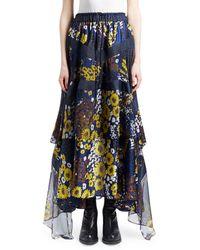 Sacai - Floral-print Boho Maxi Skirt - Lyst