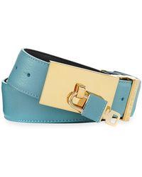 Buscemi - 100mm Padlock-buckle Leather Belt - Lyst
