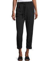 Vince - Self-tie Side Strap Cropped Jogger Trousers - Lyst